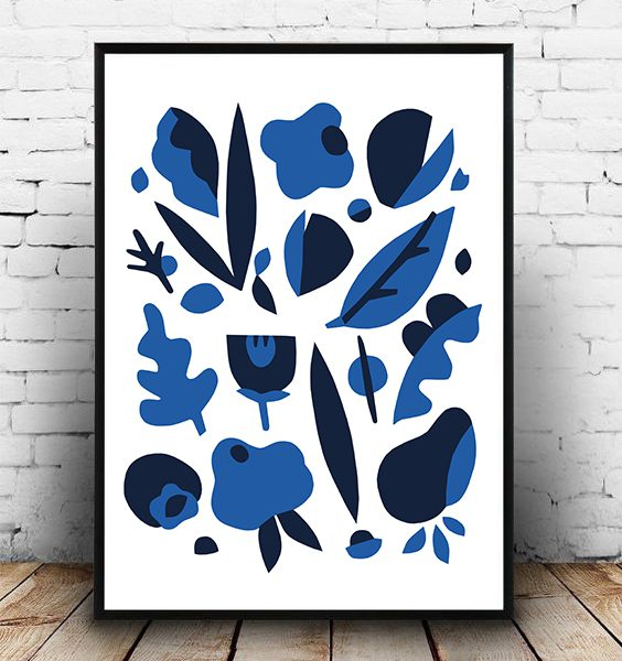 FRAMED - ABSTRACT BLUE FOREST