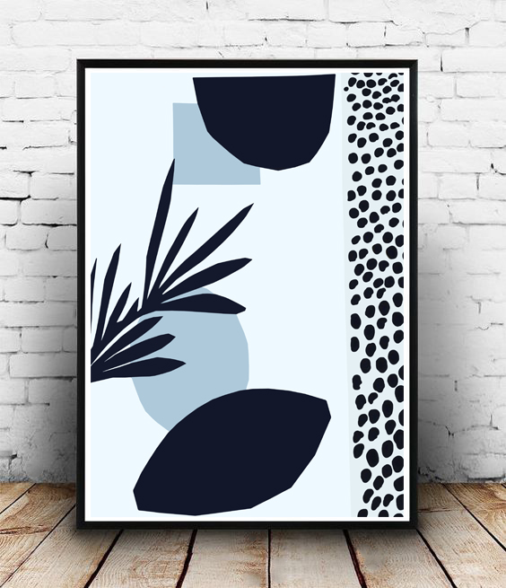 FRAMED - ABSTRACT BLACK DOTS