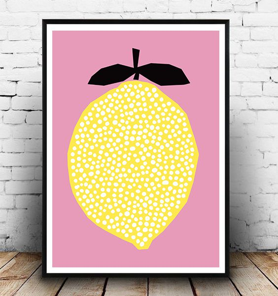 FRAMED - ABSTRACT YELLOW LEMONADE