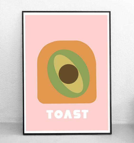POSTER-AVOCADO ON TOAST-WALLART