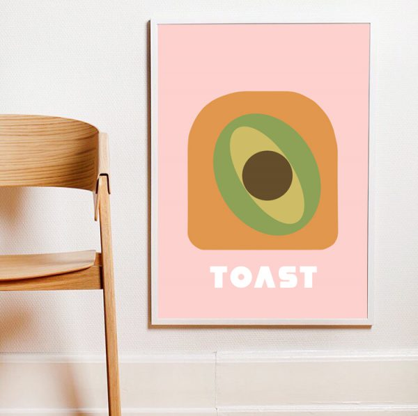 POSTER-AVOCADO ON TOAST-WALLART