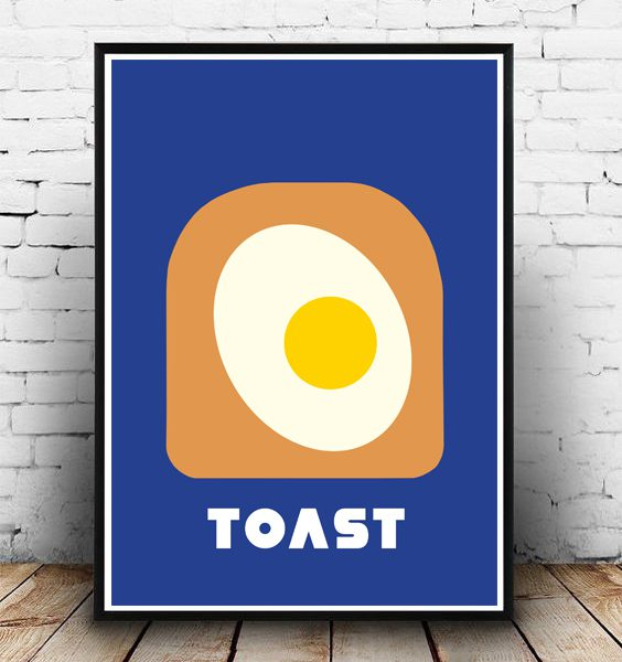 POSTER-EGG ON TOAST-WALLART