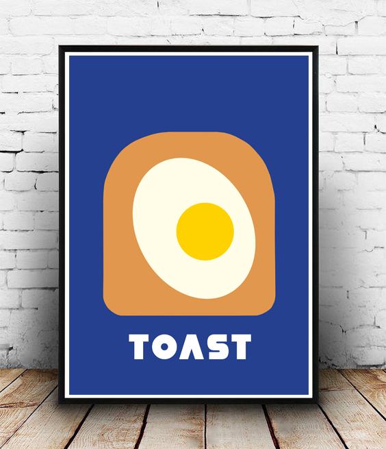 POSTER-EGG ON TOAST-WALLART