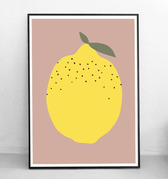 STUDIO ALBERT| JUST A LEMON - POSTER