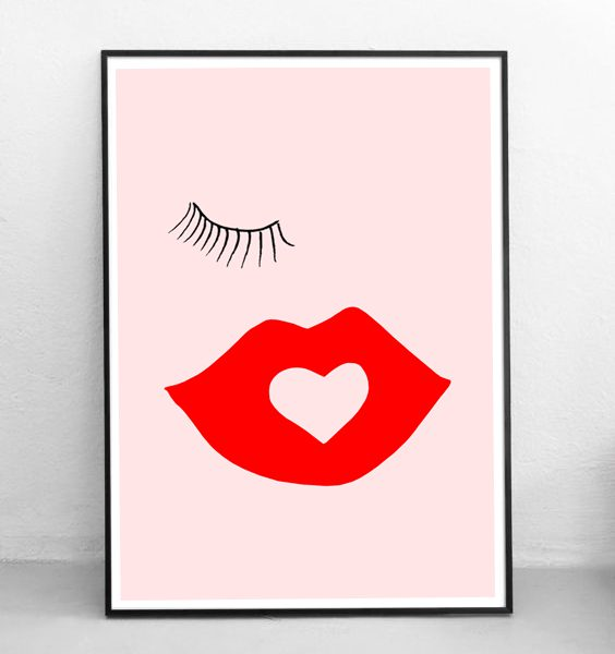 FRAMED - ABSTRACT KISS ME