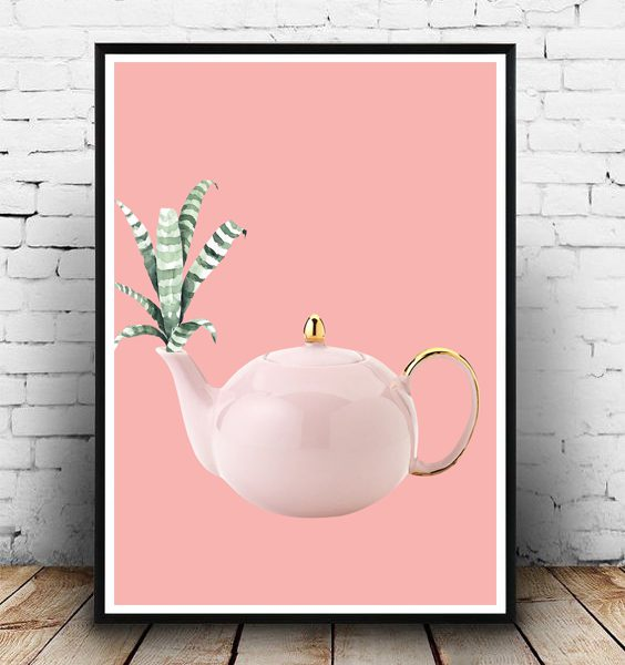 FRAMED - ABSTRACT PINK TEAPOT