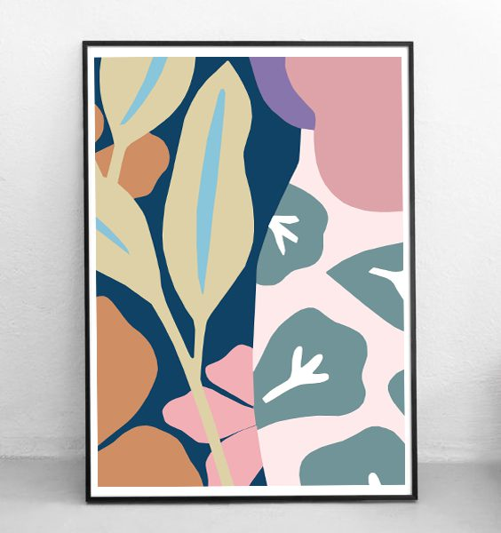 POSTER-PINKJUNGLE-WALLART