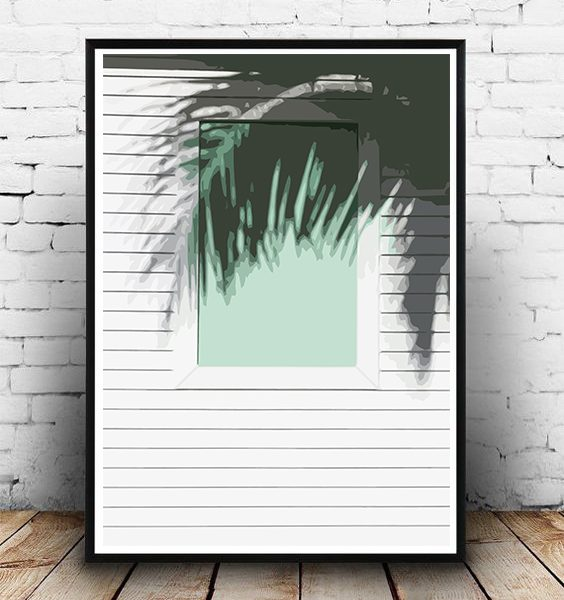 FRAMED - ABSTRACT HOUSE AT THE BEACH