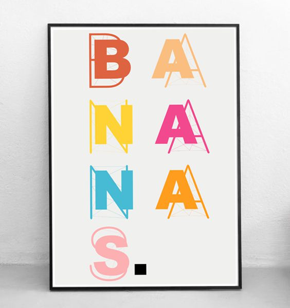 FRAMED - ABSTRACT - BANANAS