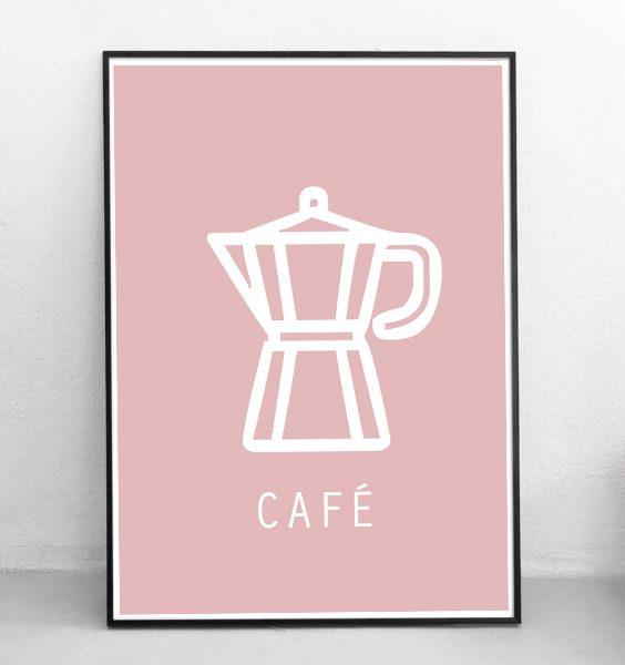 FRAMED - ABSTRACT - CAFÉ