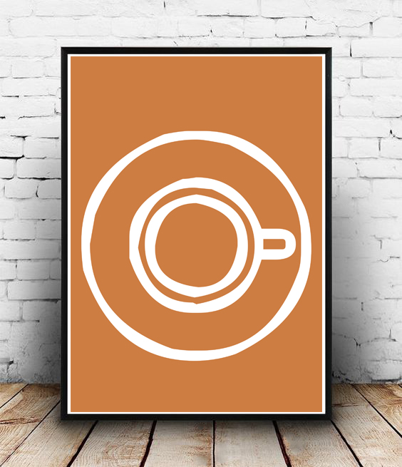 FRAMED - ABSTRACT - COFFEE TIME