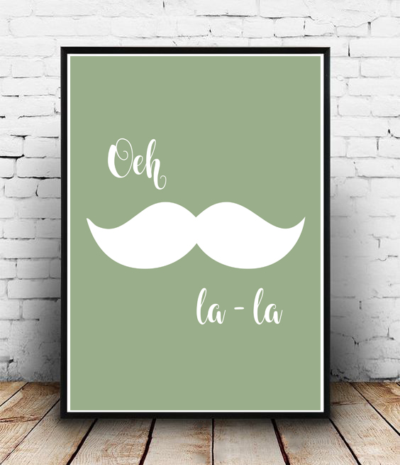 FRAMED - ABSTRACT - LA MOUSTACHE