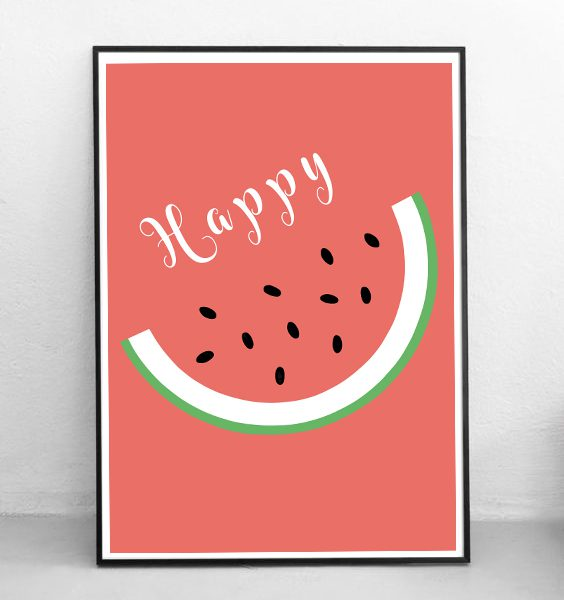 FRAMED - ABSTRACT - HAPPY