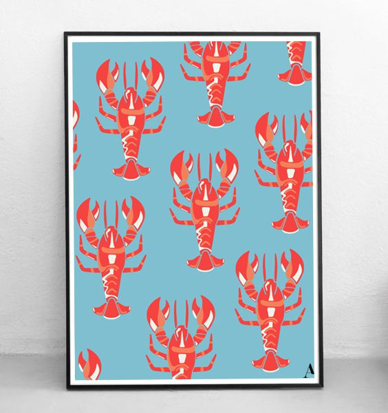 ABSTRACT-LOBSTER-WALLART