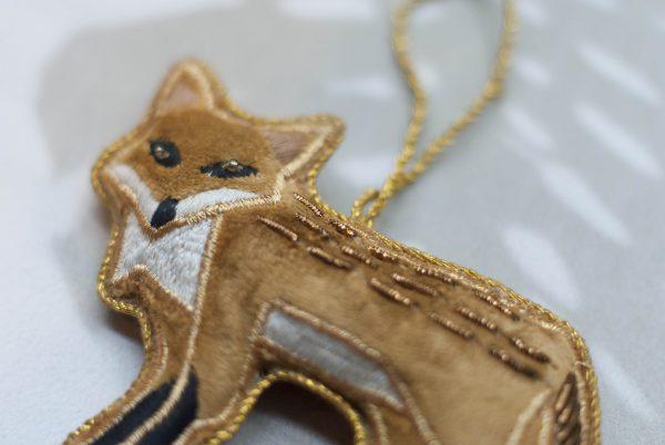 CHRISTMAS-KERSTBAL-FOX-HANDMADE
