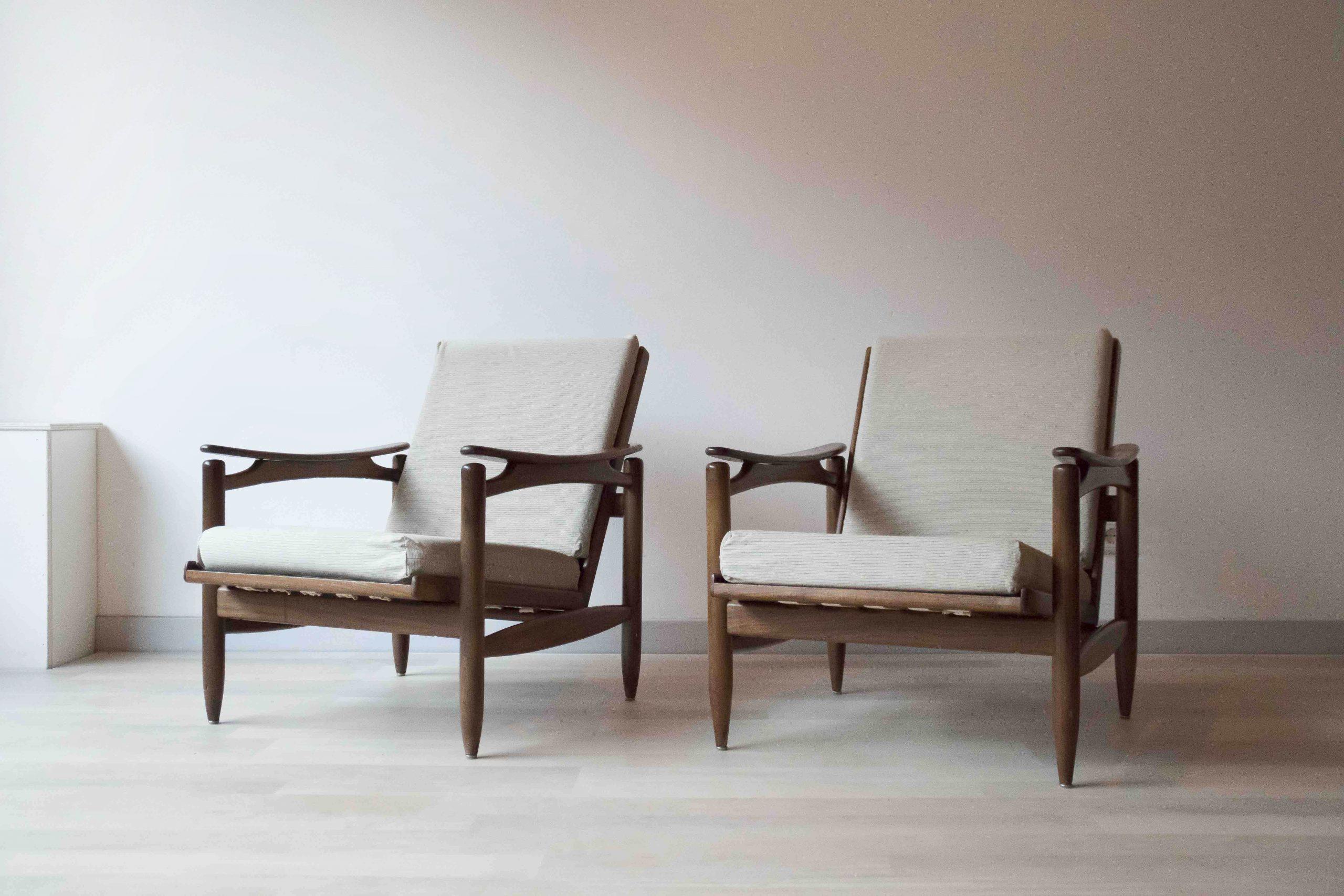 Leuke Design Fauteuil.Retro Deense Design Fauteuils Uit De Jaren 60 Met Organische