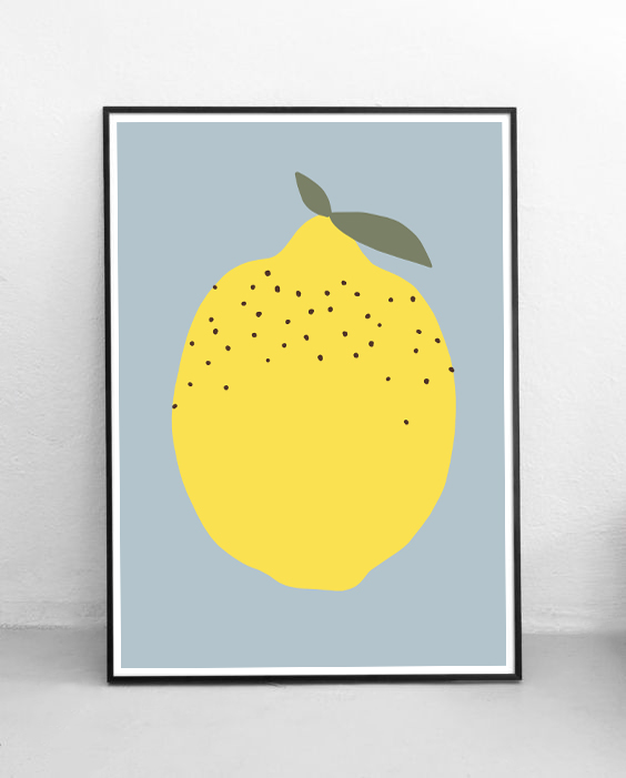 FRAMED-JUST-A-LEMON-BLUE