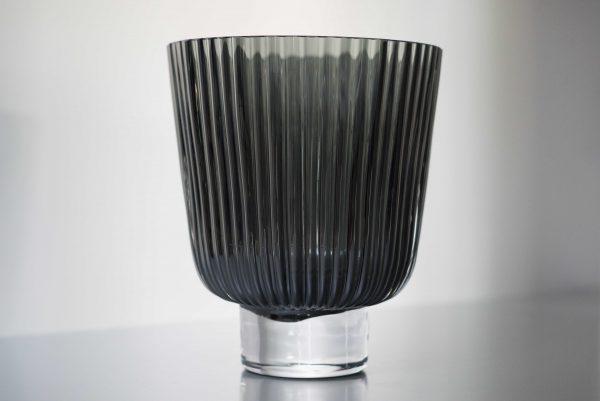 plisse vaas grey